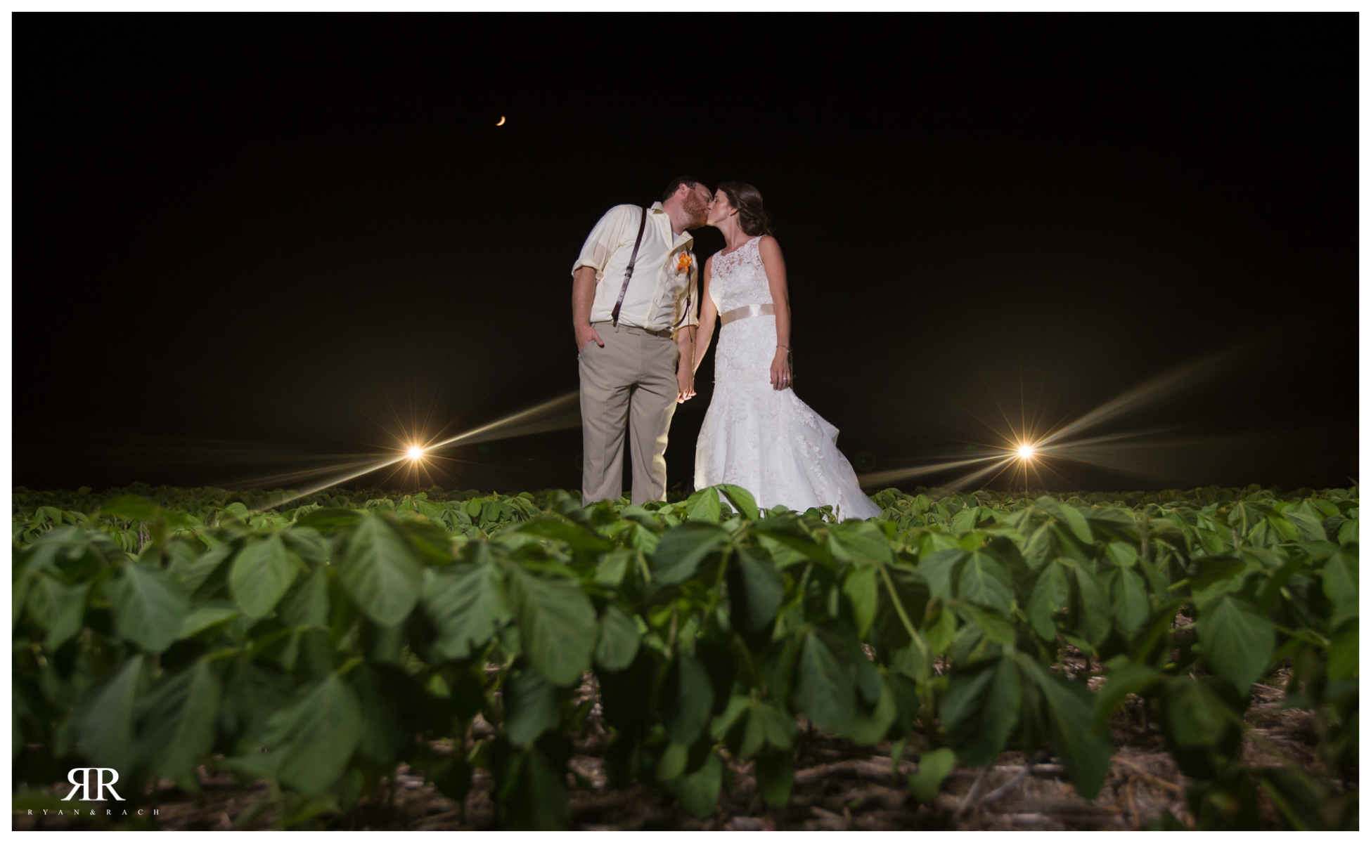 Farm Field Wedding Night Photos
