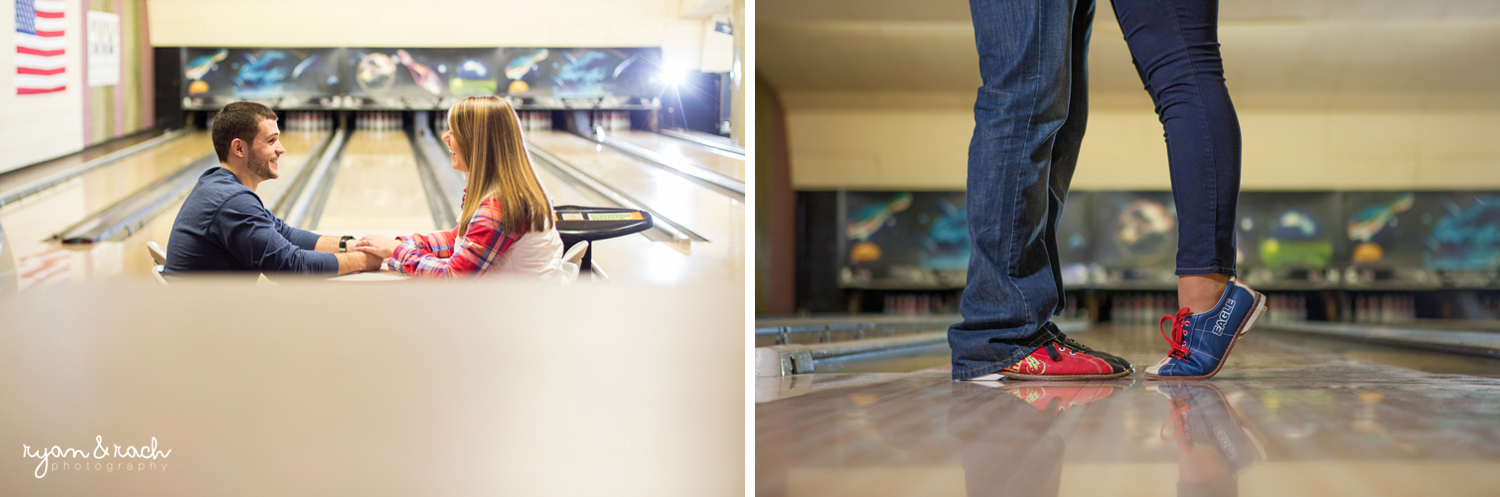 Staunton Bowling Alley Engagement Session