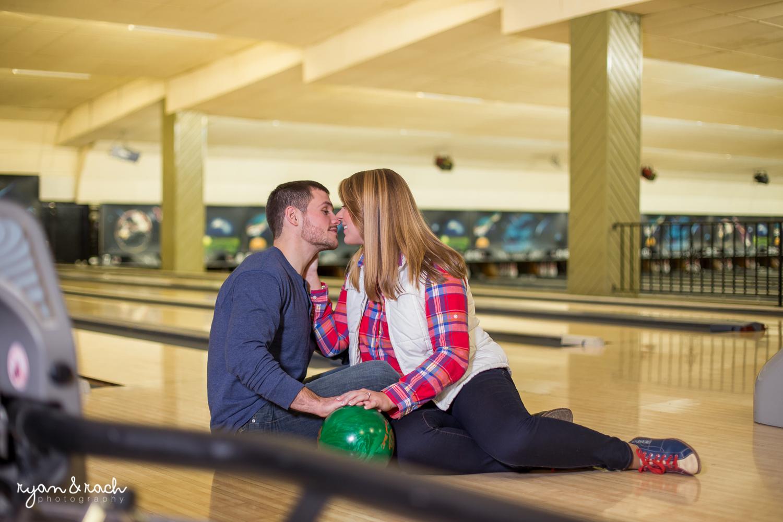 Staunton Bowling Lanes Engagement Session