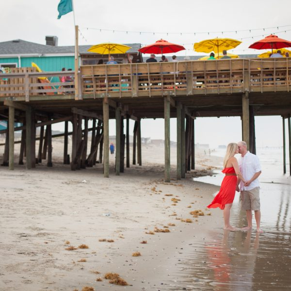 Kasie & Brian | Outer Banks Pier Engagement | Nags Head, NC