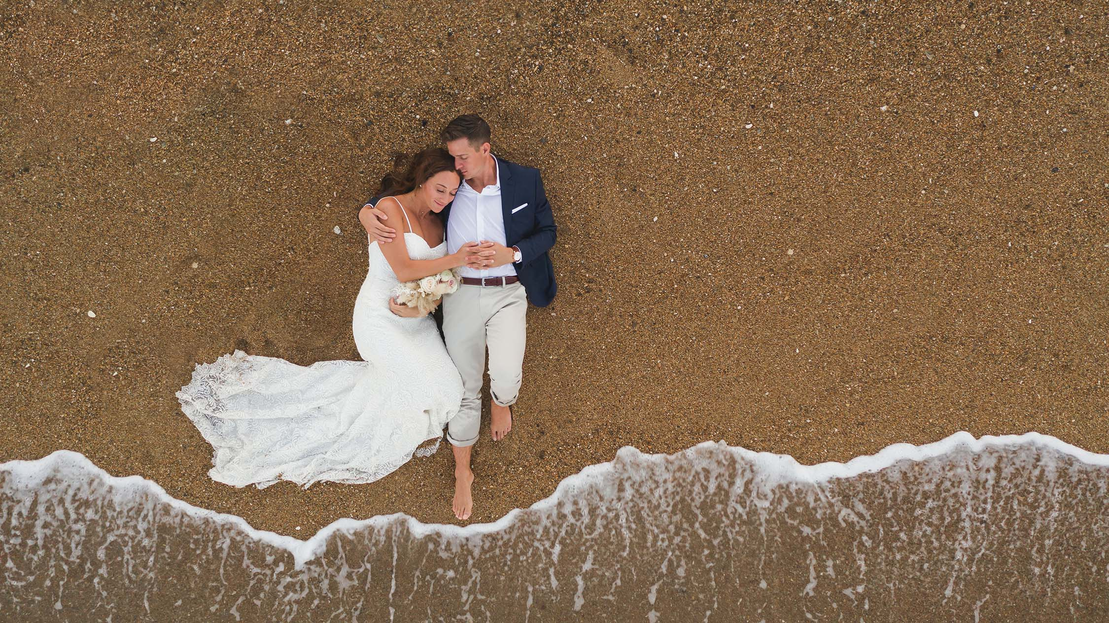 Outer Banks wedding photography drone photo and wedding photography